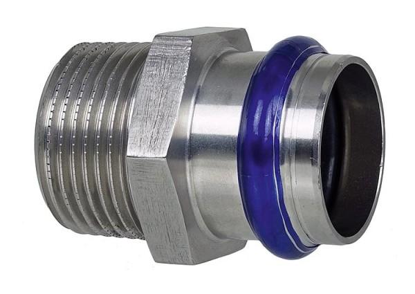 Edelstahl Pressfitting V-Kontur Übergangswinkel 90 mit IG 22mm x DN 20 (3/4)