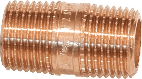 Rotguss-Gewindefitting RohrdoppelnippelTyp 35301x 80 mm