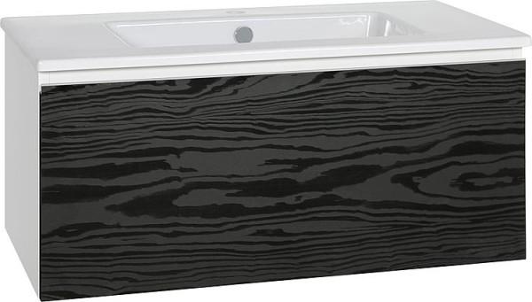 WTU + Keramik-WT Serie ELA Korpus schwarz smt - Front Eiche Funier dunkel, 910x