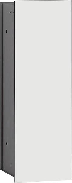 Hochschrank ELA mit Softclose Korpus weiß smt - Front Eiche Furnier dunkel 400x8