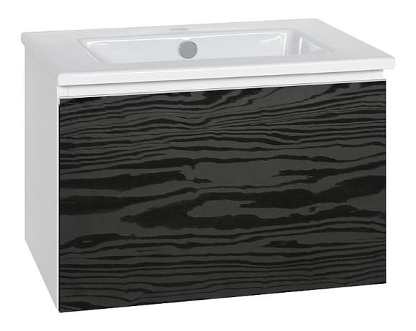 WTU + Keramik-WT Serie ELA Korpus schwarz smt - Front Eiche Furnier dunkel 610x4