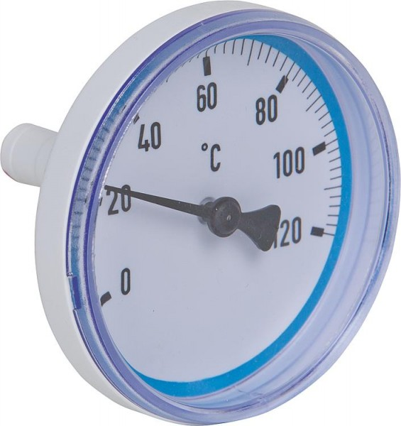 Thermometer blau für Heizkreisset DN20