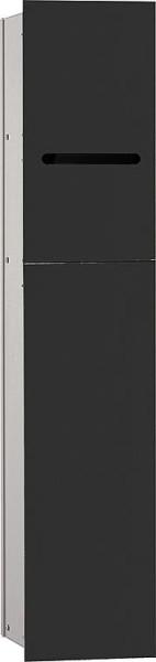 Hochschrank ELA mit Softclose Korpus weiß smt - Front Eiche Furnier hell 400x800