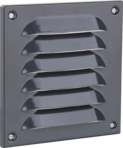 Upmann Wetterschutzgitter 440x440mm Aluminium RAL 7024, graphitgrau 54723