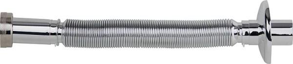 """Flexibler Anschlußschlauch verchromt DN32 11/4"""" 32mm x 250mm Röhrensiphon"""