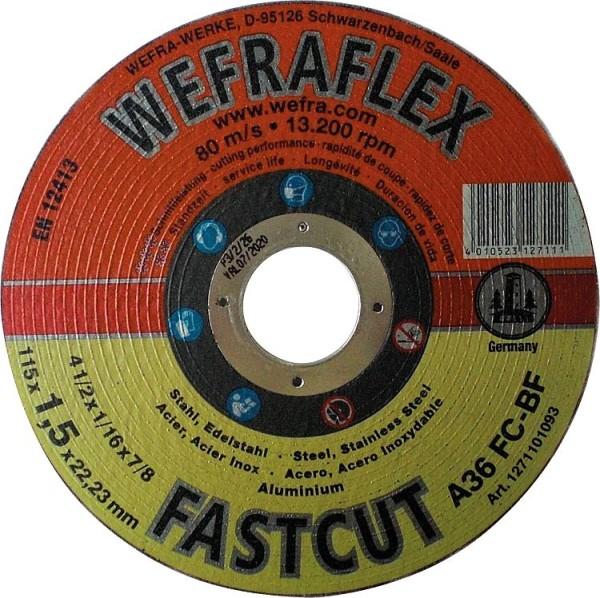 Trennscheibe Fastcut gerade für Metall 115 x 1,5 x 22 mm