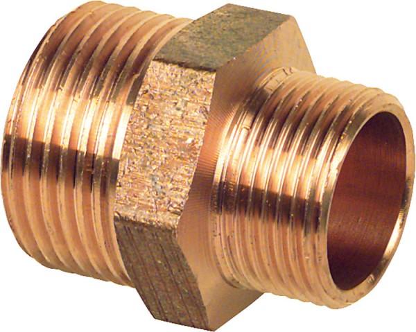 Rotguß-Gewindefitting Doppelnippel reduziert Typ 32451 1/4 x 1