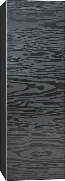 Hochschrank ELA mit Softclose Korpus weiß smt - Front Eiche Furnier dunkel 400x1