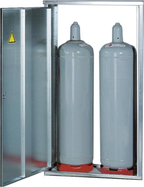 4-Flaschenschrank für 33Kg Flaschen mit Rückwand HxBxT 1485x1670x400 mm