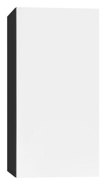 Hochschrank ELA mit Softclose Korpus weiß smt - Front Eiche sägerau 400x1200x350