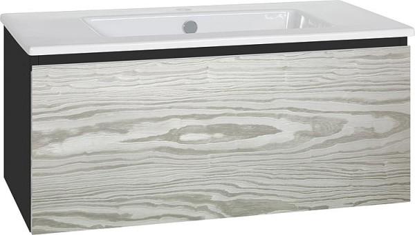 WTU + Keramik-WT Serie ELA Korpus schwarz smt-Front weiß smt, 1210x420x510mm