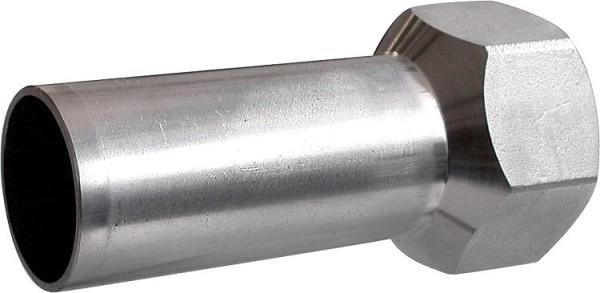 Edelstahl Pressfitting V-Kontur Übergangsmuffe mit AG 35mm x DN25(1)