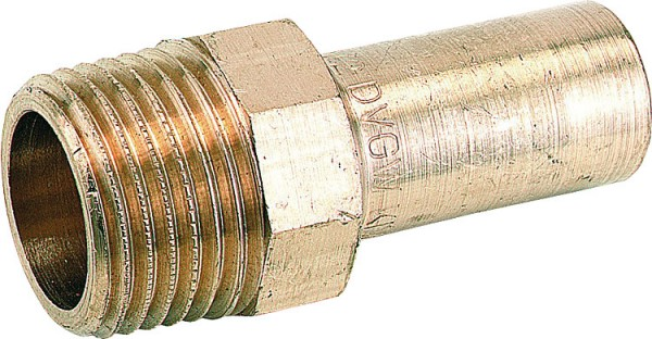 Rotguß Pressfitting Einstecknippel 22x1/2 AG P 4280 G