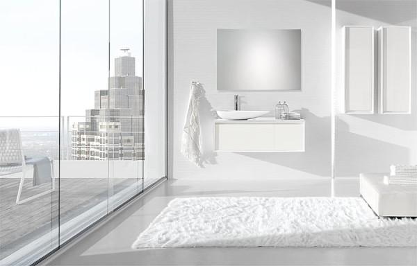 Badmöbel-Set EPIC Serie MBH anthrazit matt 4 Auszüge