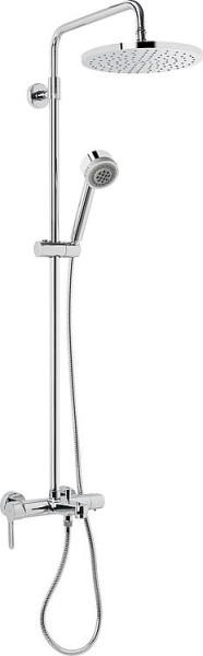 Evenes Brausesystem Enzan mit AP Wannenthermostat Handbrause + Kopfbrause