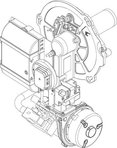 Buderus Gasbrenner VM1.1 30kW everp 8738804046