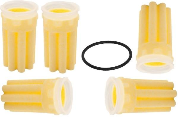 5 Filter Filtereinsatz Ölfilter Heizung Siku gelb 50 µm Dichtung Brenner sternförmig