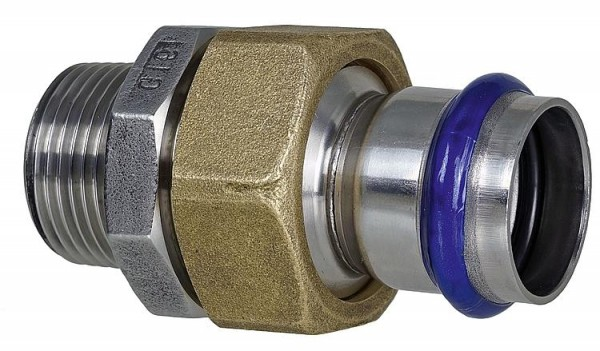 Absatznippel mit AG Edelstahl 54mm x DN50 (2)