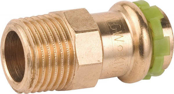 Rotguß Pressfitting Übergangsnippel mitAG 28x1 P 4243 G
