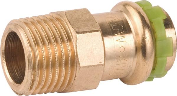 """sudo Rotguß Pressfitting Übergangsnippel mit AG 15 mm x 3/8"""" P 4243 G"""