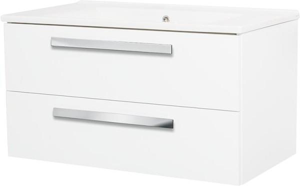 Hochschrank Serie MAB 2 Türen weiß mattAnschlag links 350x1585x370mm