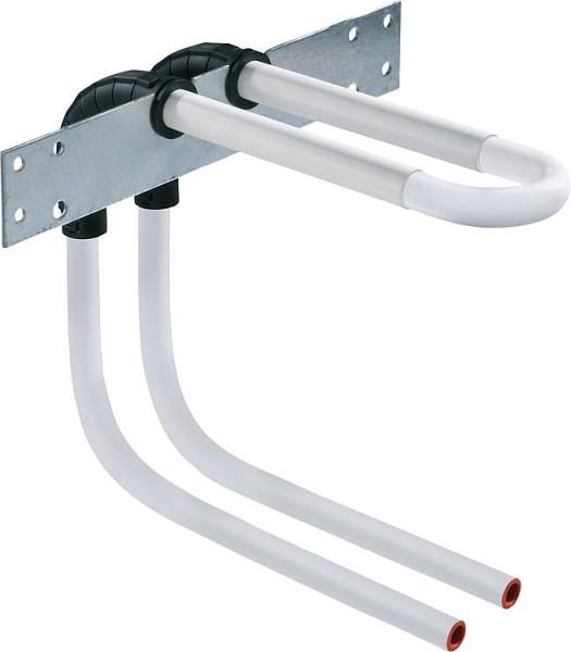 Wandverbindung mit Rohrbogenheit Edelstahl 15x1,0Höhe: 320mm ohne Isolierung