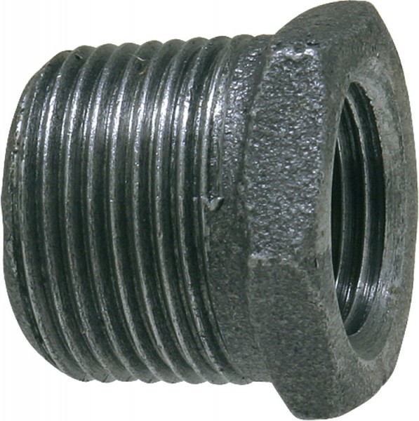 Tempergussfitting, schwarz Reduktionsstück, 3/4 x 1/2 (i/a) Typ 241