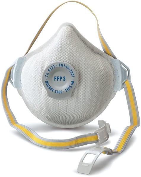 Moldex Atemschutzmaske FFP3 NR D Aktiv Form mit Klimaventil VPE 5 Stück Mehrwegmaske Maske