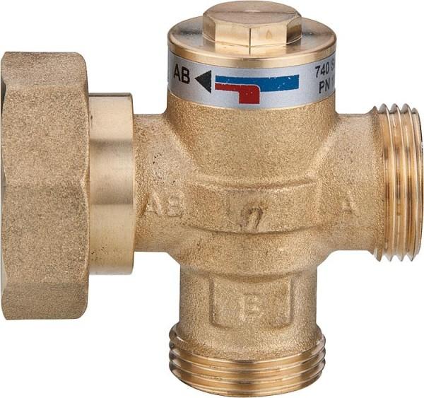 Ladeventil Easyflow Wood Typ 741 C,55°C,DN32(11/4)ÜWMxAG