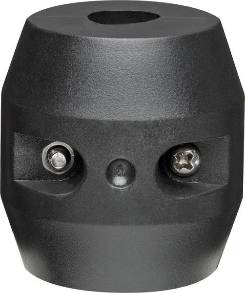 Doppel-Excenterrosette 15mm Kunststoff verchromt,verstellbar