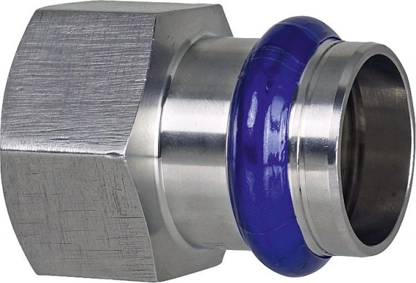 Edelstahl Pressfitting V-Kontur Übergangsmuffe mit IG 15mm x DN 15 (1/2)