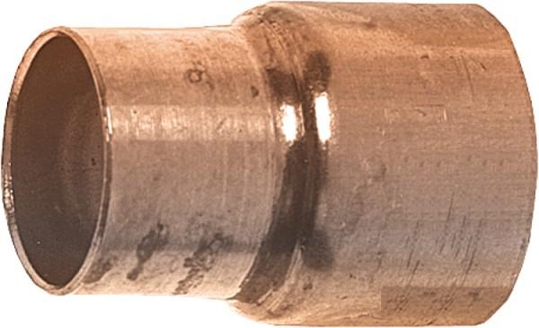 Kupferlötfittings 5240 Reduziermuffe 28 x 22 mm Kupfer Muffe