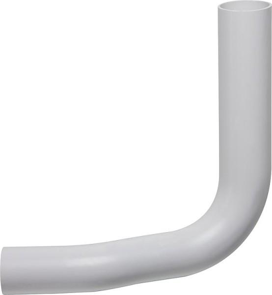 Spülrohrbogen weiß, d= 50 x 44mm mit Versatz 80mm links versetzt Spülrohr Bogen 90°