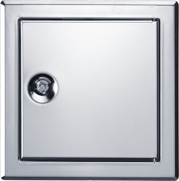 Revisionstür SOFTLINE Edelstahl mit Vierkantverschluss Einbaumaß 400 x 400mm