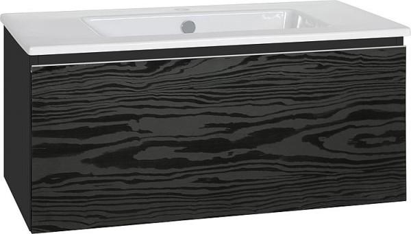 WTU + Keramik-WT Serie ELA Korpus weiß smt-Front Eiche Furnier dunkel,1210x420x5