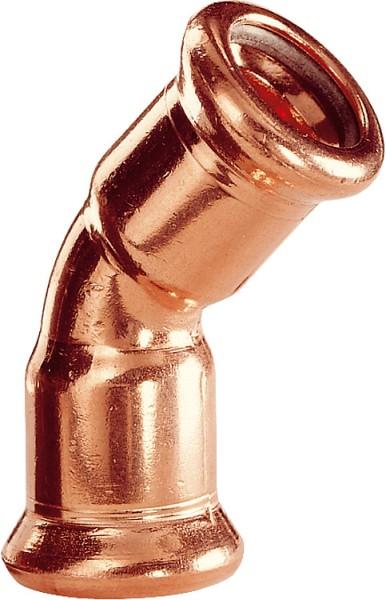Kupfer Pressfitting Bogen 45 i/iD:15mmTyp 7041