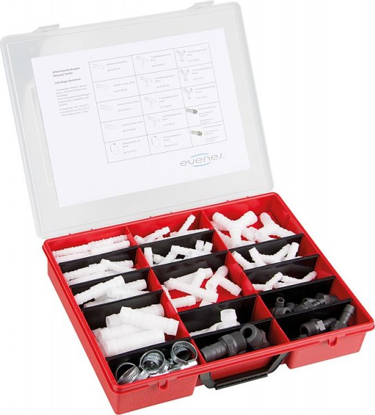 Schlauchverbindungs-Set Heizung/Sanitär, 114-teilig im Kunststoffkoffer