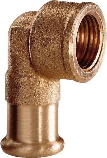 Rotguss Pressfitting Winkel 90 i/i54x2Typ 6090g