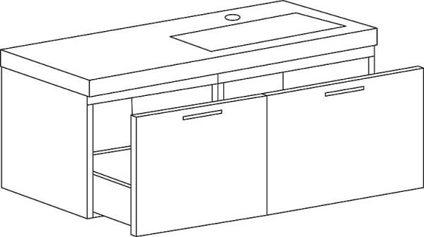Hochschrank Serie MAA 1 Türe weiß matt Anschlag links 386x1500x206mm