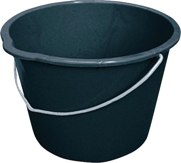 Baueimer 12 Liter schwarz, mit Tülle, VPE = 10 Stück