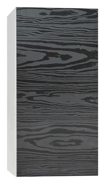 Hochschrank ELA mit Softclose Korpus schwarz smt - Front Eiche Furnier dunkel 40