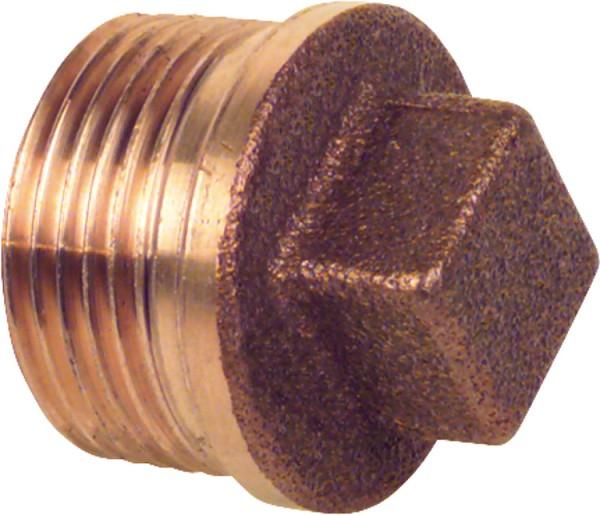 Rotguß-Gewindefitting Stopfen mit Rand Typ 32901 1/4 AG