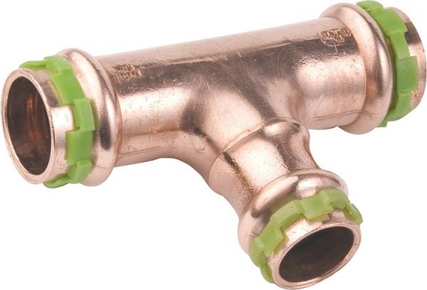 Kupfer Pressfitting T-Stück reduziert 15x22x15 Typ P5130