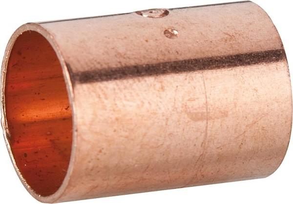 Kupferlötfittings 5270 Muffe mit Anschlag 18mm Kupfer