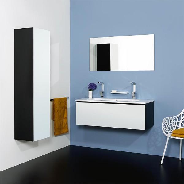 WTU + Keramik-WT Serie ELA Korpus weiß smt - Front Teak 610x420x510mm