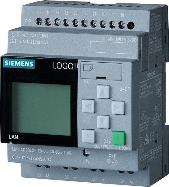 Logikmodul LOGO! 8 Siemens Typ 24CE, 6ED1052-1CC08-0BA0