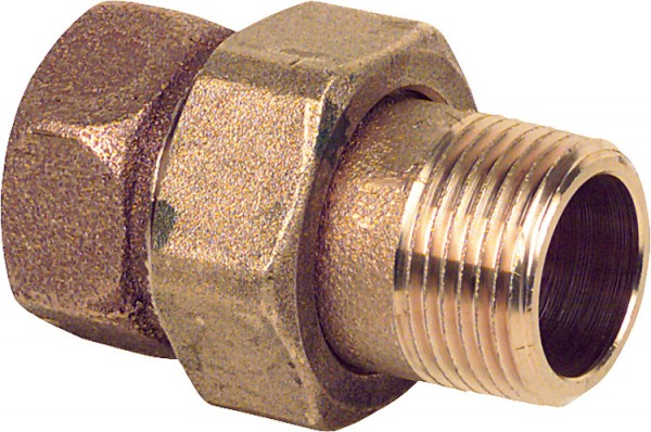 Rotguß-Gewindefitting Verschraubung flach dichtend Typ 33313/8 IxA