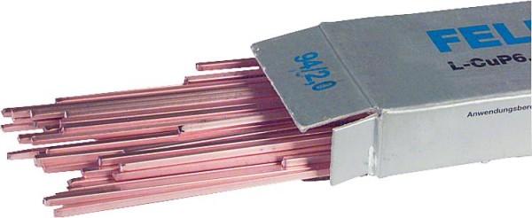 Felder-Kupfer-Hartlot DIN 8513 Vierkant-Stäbe, 500 mm lang VPE = 1 kg2 mm
