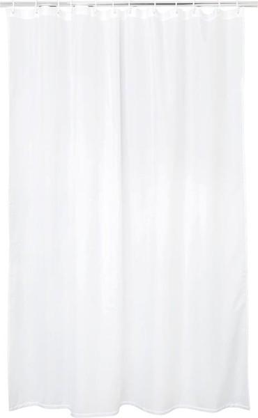 Duschvorhang EGZONA Schneeweiß 2400 x 1800mm Textilgewebe