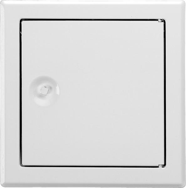 Revisionstür SOFTLINE weiß mit Vierkantverschluss Einbaumaß 150 x 150mm